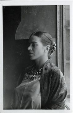 "thenoguchimuseum: "" Portrait of Frida Kahlo found in Isamu Noguchi's archives, ca. 1930s. Happy, Birthday, Frida Kahlo! In all likelihood, this photo was taken by Noguchi during the time he was working on his commission at the Mercado Abelardo..."