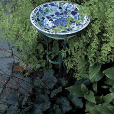 Turn bits and pieces of broken china and tile into unique garden ornaments