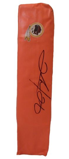 Clinton Portis signed Washington Redskins full size football touchdown end zone pylon w/ proof photo.  Proof photo of Clinton signing will be included with your purchase along with a COA issued from Southwestconnection-Memorabilia, guaranteeing the item to pass authentication services from PSA/DNA or JSA. Free USPS shipping. www.AutographedwithProof.com is your one stop for autographed collectibles from Miami Hurricanes. Check back with us often, as we are always obtaining new item...