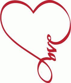 Silhouette Online Store - View Design #37580: love tattoo