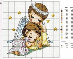 Sleeping angels cross stitch chart