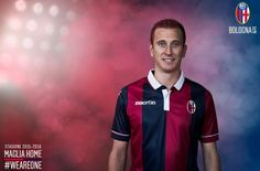 Bologna's official 2015-16 home shirt launch.