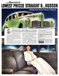 1940 Hudson Eight Touring Sedan.
