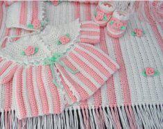 Rosebud Layette Crochet Pattern Crochet Pattern Rosebud Layette [PA992] - $7.99 : Maggie Weldon, Free Crochet Patterns
