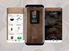 coffee app design - Google Search Expresso Coffee, Small Coffee Shop, App Design, Brewing, Snacks, Breakfast, Techno, Shopping, Google Search