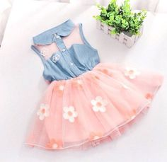 Plaid Summer Lace Dress – babytopz