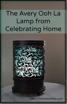 The new Avery Lamp from Celebrating Home. www.Celebratinghome.com/sites/LisaRaines