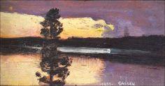 Akseli Gallen-Kallela (1865-1931), Coucher de Soleil - 1899