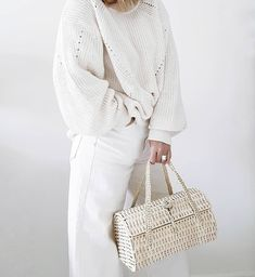 Bag lady...Mr NAD thinks it looks like his grannies knitting basket, I'd prefer vintage inspired, clearly he doesn't do fashion speak?! .…