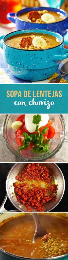 Si te encantan las lentejas, esta sopa de lentejas con chorizo es un clásico de la cocina mexicana que no te querrás perder. Disfrútala en un día lluvioso o en temporada de frío. ¡Te encantará!