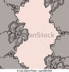 Vector - Lace fabric seamless pattern with abstact flowers. - stock illustration, royalty free illustrations, stock clip art icon, stock clipart icons, logo, line art, EPS picture, pictures, graphic, graphics, drawing, drawings, vector image, artwork, EPS vector art