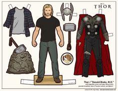 Thor Recortable para Imprimir Gratis.