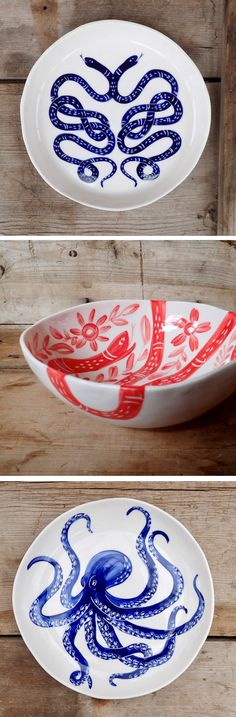 Becca Jane Studio Illustrated ceramics