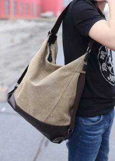 6b0bbf06f4 TUODAWEN Unisex Adjustable Outdoor Canvas Shoulder Bag Satchel Hobo Bag  (Blue). Canvas Shoulder BagLarge BagsHobo BagShoulder HandbagsBucket Crossbody ...