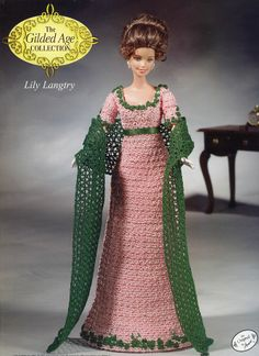 Lily Langtry Outfit for Barbie Annie's Gilded Age Crochet Pattern NEW RARE