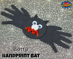 A Batty Handprint Bat Craft for Kids is a fun and easy-to-make Halloween decoration that you will treasure as your child grows every year.