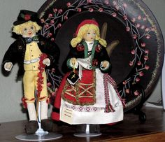 Swedish wedding dolls