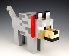 Lego Minecraft Wolf Lego Minecraft, Minecraft Wolf, Minecraft Party, Wolf Clipart, Origami, Minecraft Wallpaper, Minecraft Creations, Valentine Box, Lego Instructions