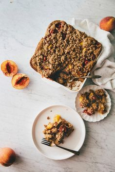 Hummingbird High - A Desserts and Baking Food Blog in San Francisco: Strawberry, Nectarine, and Peach Whole Grain Buckle