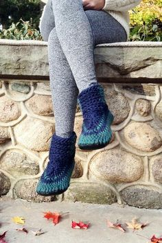 Handmade Crochet Demi-Boots with Recycled Leather Soles – Muffle-Up!