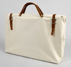 "New Work bag for Spring? Uh, YEAH! $39.00 20"" ALL CANVAS UTILITY BAG (NO. 315) :: HICKOREE'S"