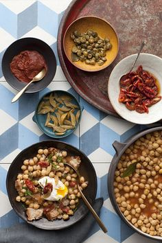 Lablabi (Tunisian Chickpea Stew) -- Skip the egg topping. It's delicious and healthier without it!