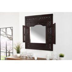 Moderne spiegel Secret window mahagoni - 35458
