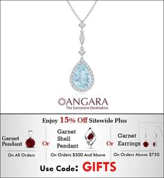 This aquamarine and diamond drop pendant with your outfit of the day!