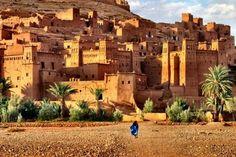 Aït Benhaddou (Berber: Ath Benhadu, Arabic: آيت بن حدّو) is a 'fortified city', ... former caravan route between the Sahara and Marrakech in present-day Morocco