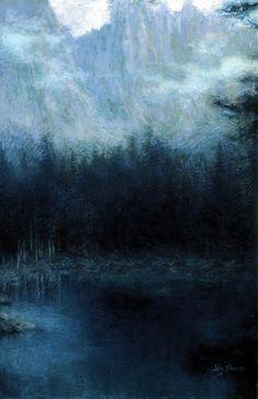 The Dolomites (pastel) - Lucien Lévy-Dhurmer (1865-1953)
