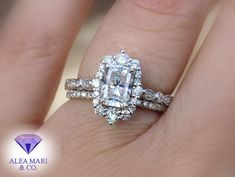 Engagement Ring Carats, Engagement Rings, Vintage Style, Vintage Fashion, Diamond Alternatives, Thing 1, Radiant Cut, Bridal Sets, Moissanite