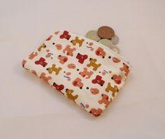 Cute Puppies Fabric Coin Purse - Free P £5.00