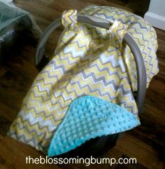 Easy Peasy DIY Car Seat Canopy Tutorial by The Blossoming Bump