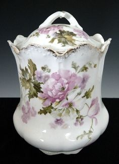 Antique Porcelain Biscuit Jar