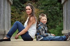 Mom and Son Fall Photos