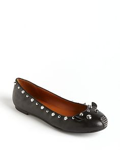 A mouse like motif on a studded flat! #lordandtaylor #shoeobsessed