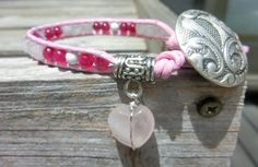 Pink on Pink Cheer Me Up Handmade Bracelet  by OffOnAWhimJewelry, $30.00