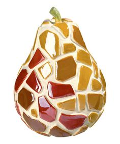 Take a look at this Mosaic Pear by Grasslands Road on #zulily today!