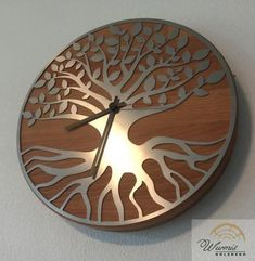 Clock, Wall, Home Decor, Tv, Unique Watches, Tree Of Life, Stainless Steel, Dekoration, Watch