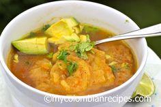 Sopa de Patacón (sopa de plátano verde frito)