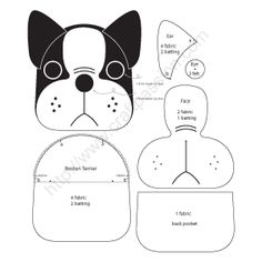 Free Sewing Patterns To Make Cute Boston Terrier Inspired Puppy Coin Purse . - Free sewing patterns to cute Boston Terrier inspired Puppy Coin Purse with z … – fabric- bags, - Sewing Hacks, Sewing Tutorials, Sewing Crafts, Sewing Tips, Boston Terriers, Easy Sewing Patterns, Quilted Purse Patterns, Coin Purse Pattern, Felt Crafts Patterns