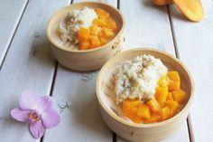 Thaise mango met kleefrijst