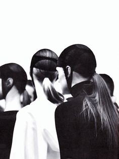 Backstage at Damir Doma F/W 2011 photographed by Markus Lambert