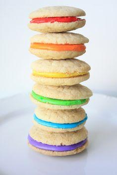Double Vanilla Delights~Rainbow Cookies