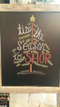Christmas retail chalkboard sign