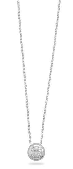 "16"" Necklace with 5mm Bezel Set CZ"