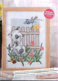 Nelson and Tibs Summer Friends The World of Cross Stitching Issue 166  Hardcopy