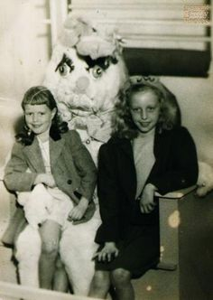 It's kind of hard not to be awkward when you're posing with a super awkward and creepy Easter bunny.