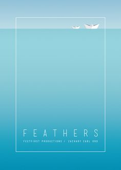 Poster advertising the premiere of the indie film 'Feathers'.