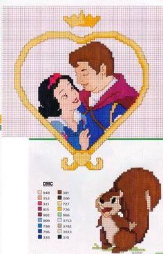 Principesse Disney - Punto Croce/ Uncinetto